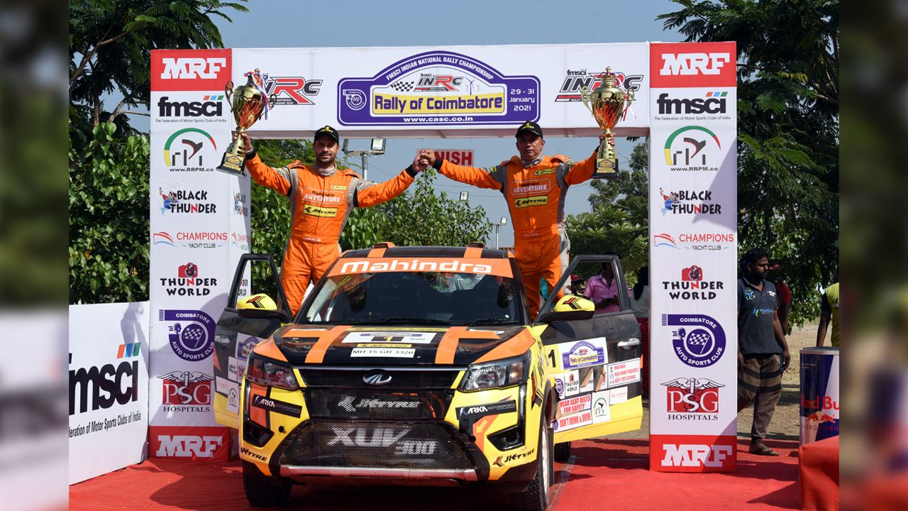 INRC 2020 Round 3 Gaurav Gill Wins Seventh Championship Title In Coimbatore