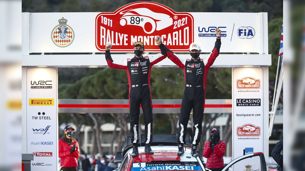 WRC 2021 Rally Monte Carlo Sebastien Ogier Claims Record Eighth Win In The French Alps