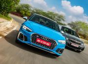 2021 Audi S5 and BMW M340i Front Motion