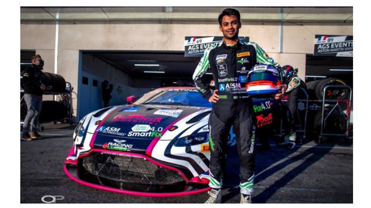 Akhil Rabindra Aston Martin GT4 Race Car