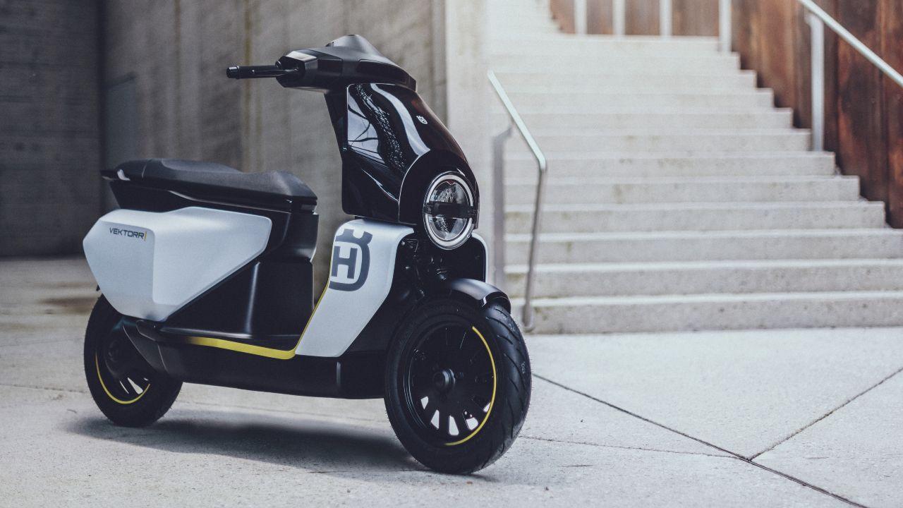 Husqvarna Vektorr Electric Scooter Concept Showcased