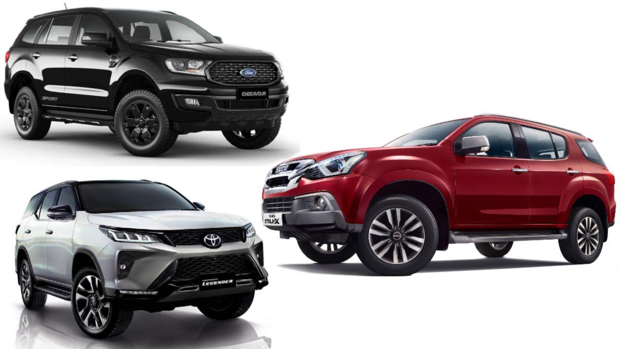 Isuzu MU X Vs Toyota Fortuner Vs Ford Endeavour Spec Comparison