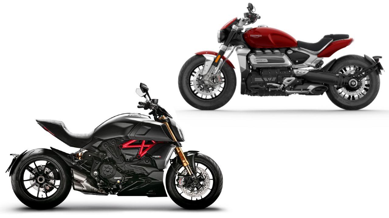 Ducati Diavel 1260 And Triumph Rocket 3 R Side Profile
