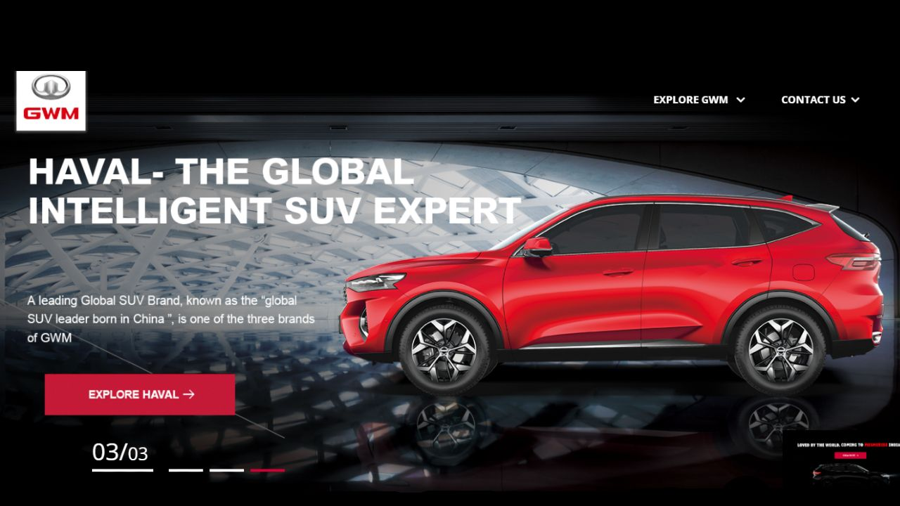 Great Wall Motors India Website Haval F7 Left Hand Side View