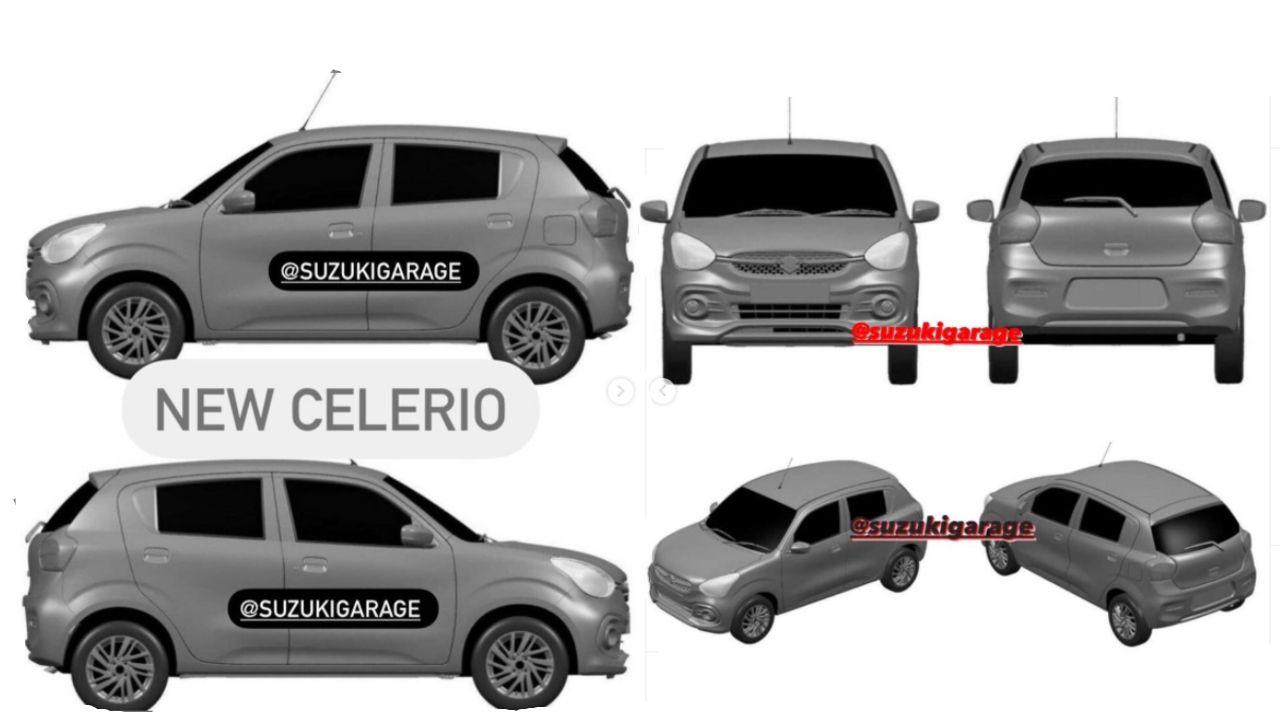 New Maruti Suzuki Celerio Design Patent Front View Side View And Cross Profile