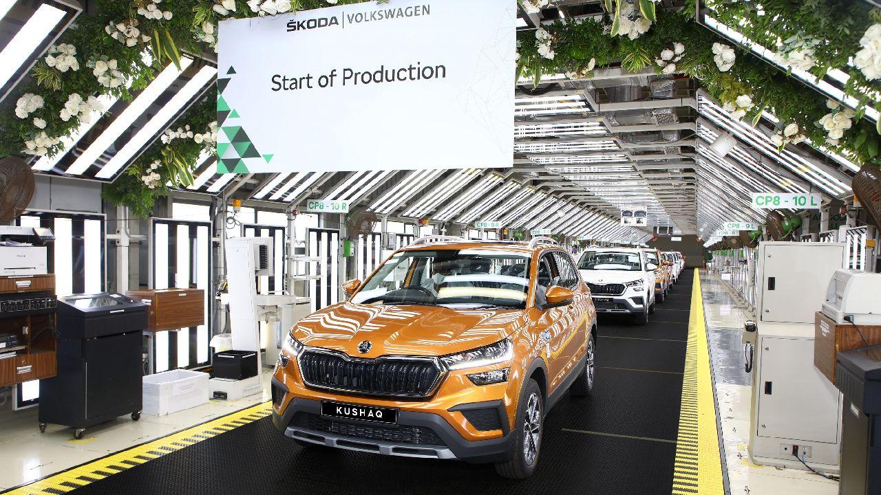 Skoda Kushaq N Production Line In Pune