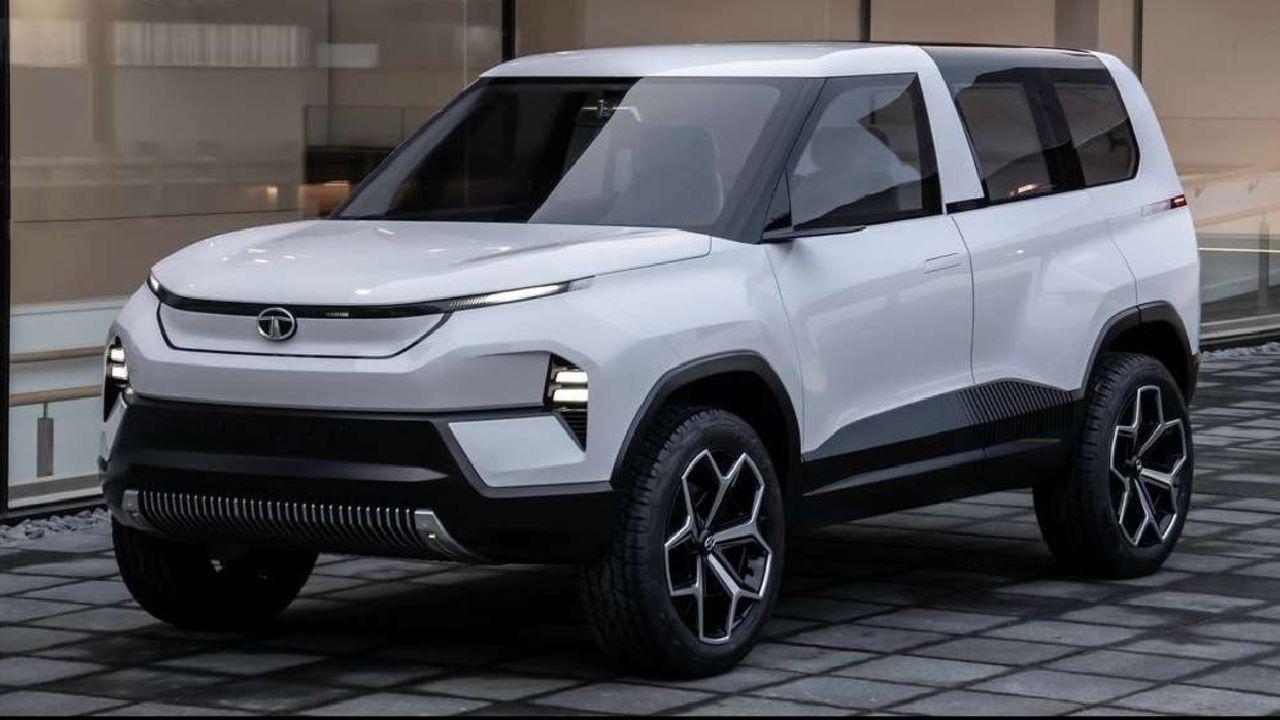 Tata Sierra EV Concept Front Three Quarter Sgtatic