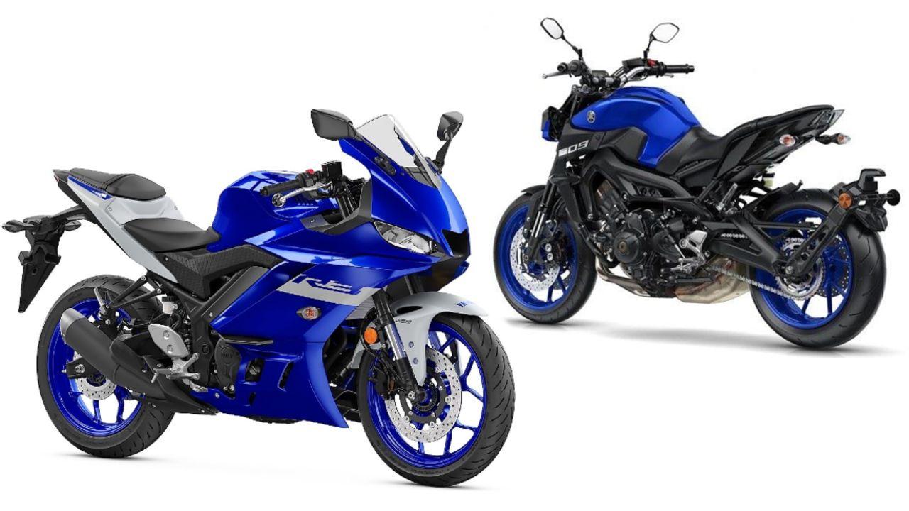 Yamaha YZF R3 And MT 09 Three Quarter Profile