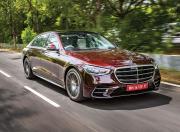 2021 Mercedes Benz S Class Front Quarter Motion