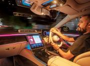 2021 Mercedes Benz S Class Interior Driving Shot1