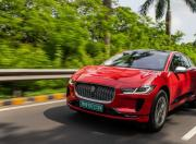 2021 jaguar i pace in action driving front m1