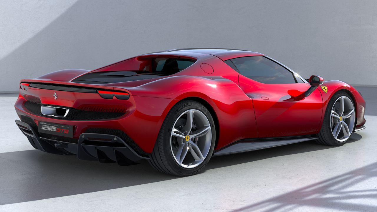 Ferrari 296 GTB Rear Quarter Static Red