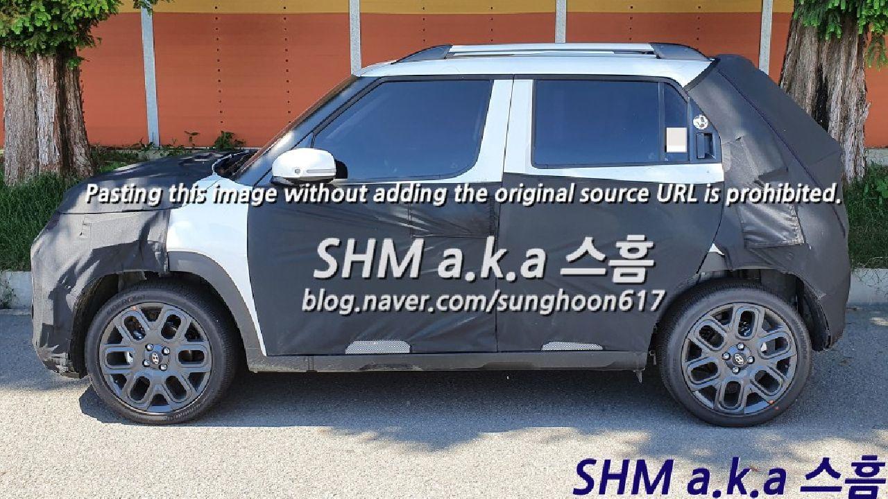 Hyundai AX1 Micro SUV Side Profile Shot