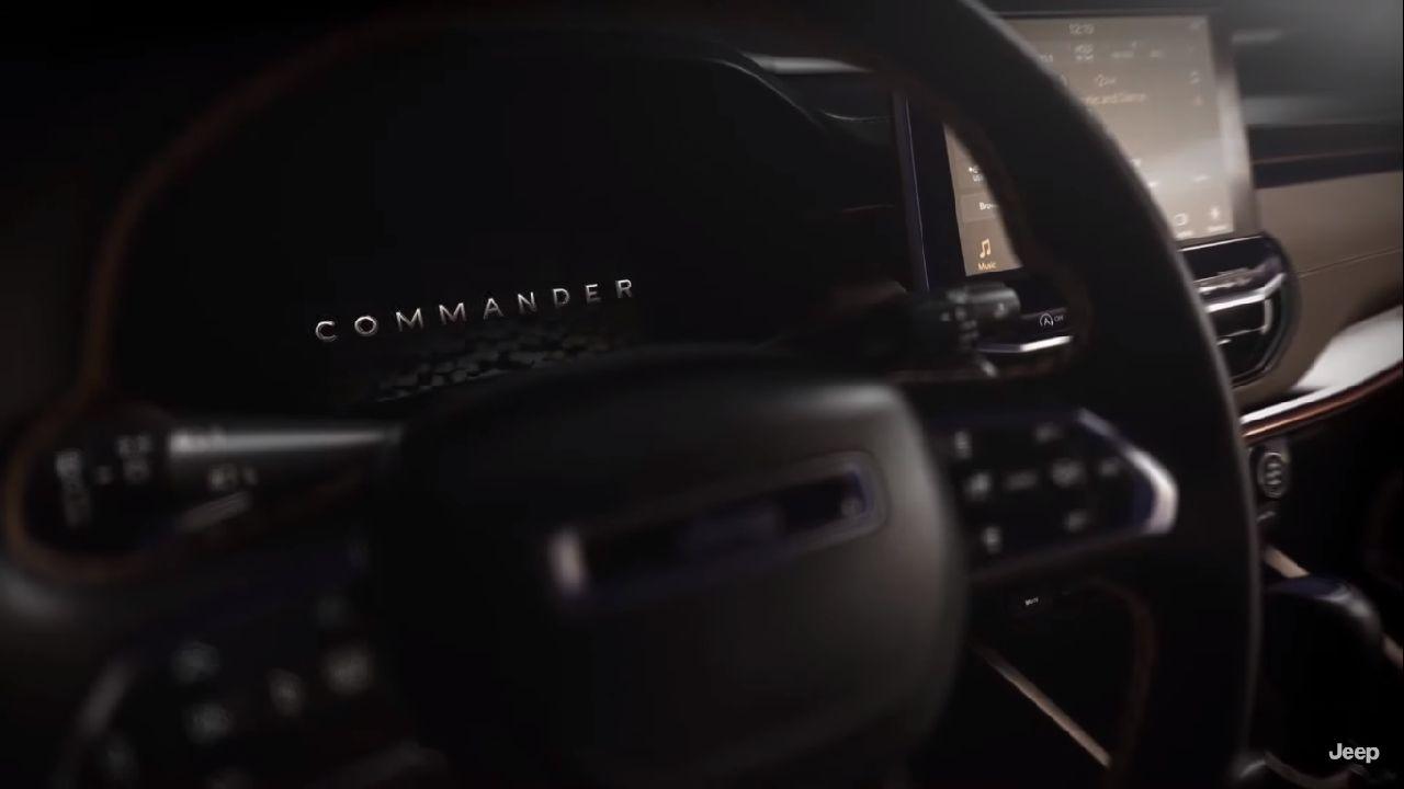 Jeep Commander Meridian Steering Wheel Details Digital Instrument Cluster
