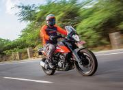 KTM 250 Adventure Front Quarter Motion