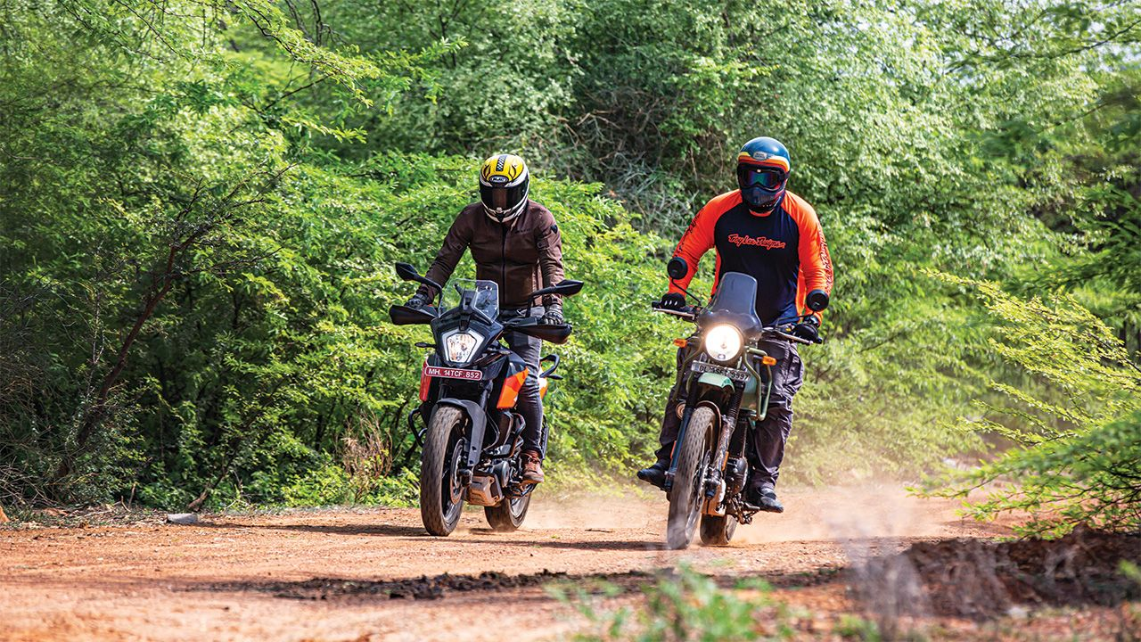 KTM 250 Adventure And Royal Enfield Himalayan Front Motion