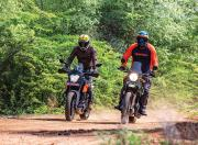 KTM 250 Adventure and Royal Enfield Himalayan Front Motion1