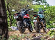 KTM 250 Adventure and Royal Enfield Himalayan Rear View Static
