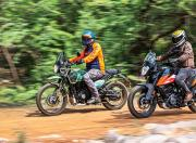 KTM 250 Adventure and Royal Enfield Himalayan Side View Motion