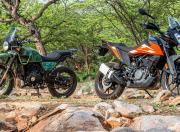 KTM 250 Adventure and Royal Enfield Himalayan Static