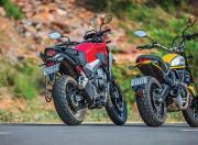 Scrambler Ducati and Honda CB500X Rear Static