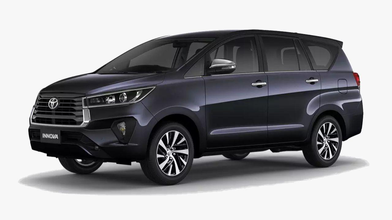 Toyota Innova Crysta Grey Front Left Three Quarter Static
