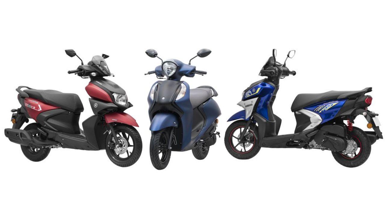Yamaha 125 Cc Scooter Line Up Three Quarter Profile