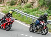 2021 Honda CB650R CBR650R cornering3