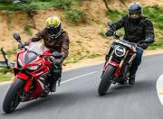 2021 Honda CB650R CBR650R handling3