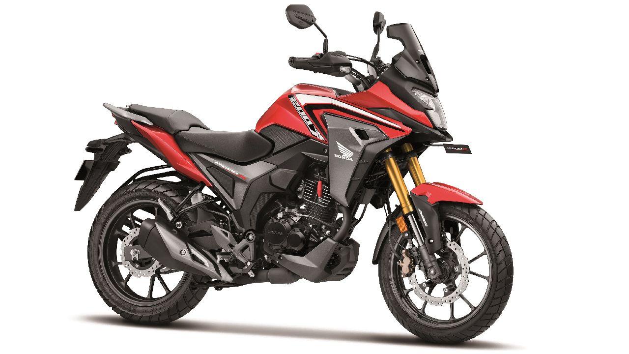 2021 Honda Cb200X Sports Red Three Quarter