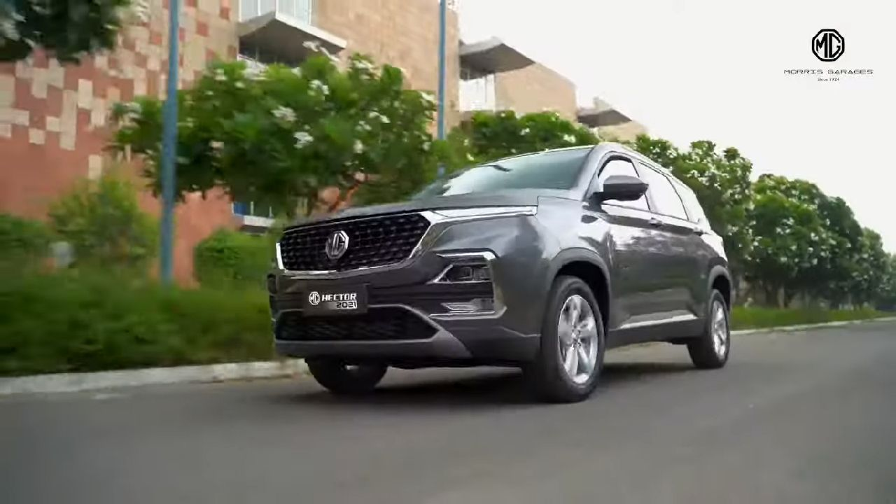 2021 MG Hector Front Three Quarter Motion Shot