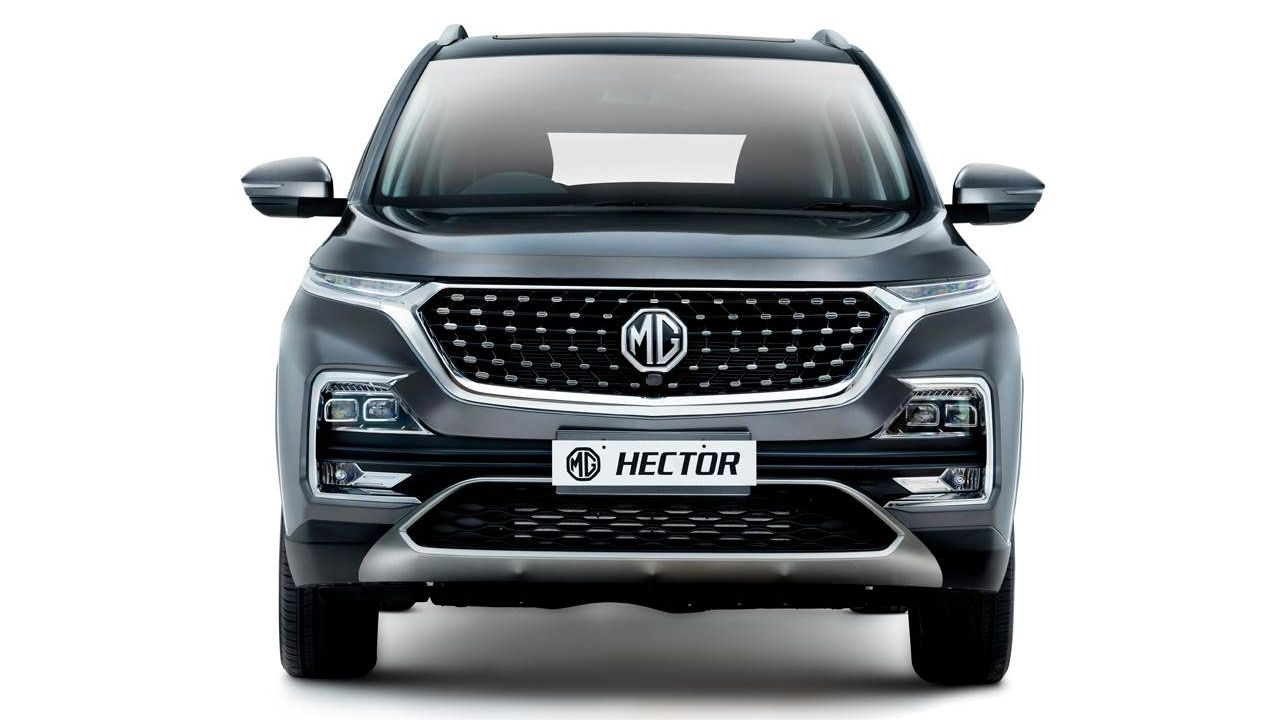 2021 MG Hector Full Front Shot Static