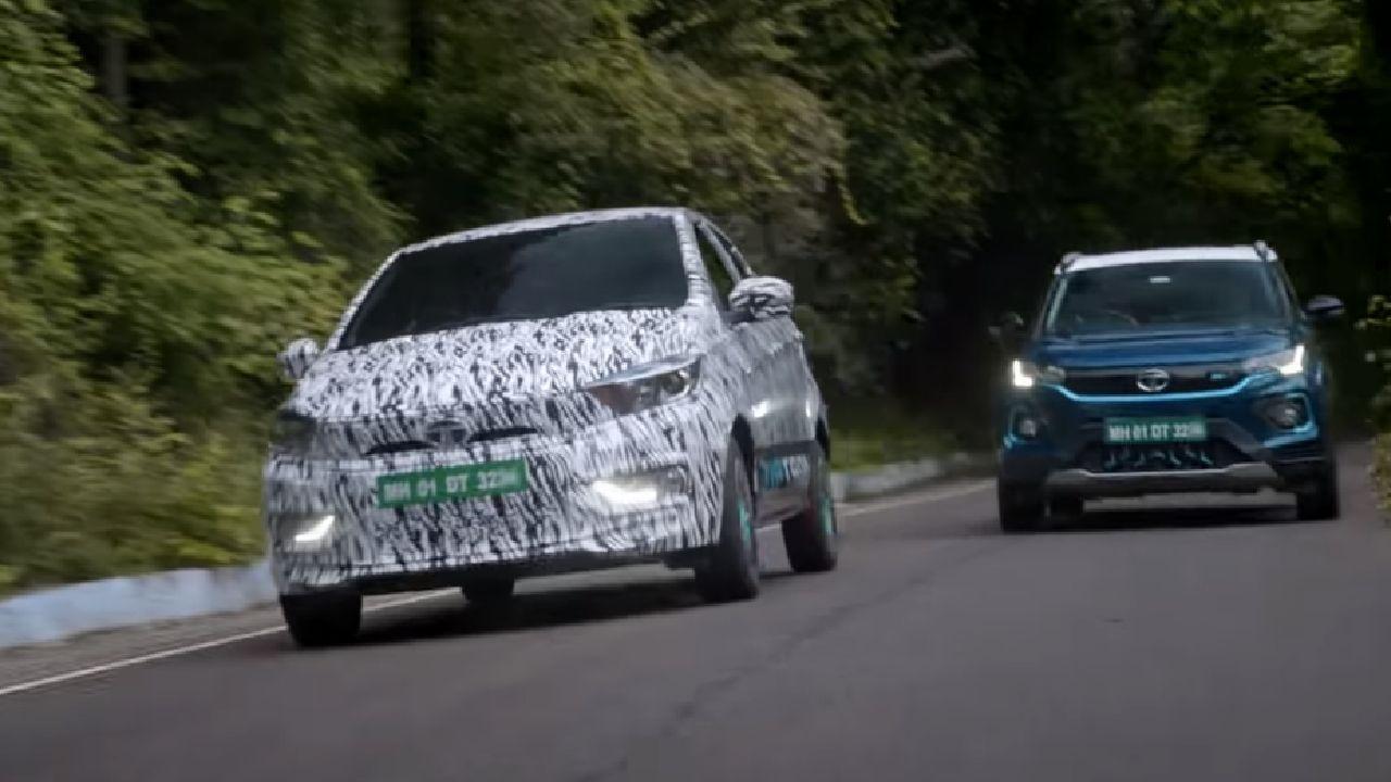 2021 Tata Tigor EV Front Tracking Motion