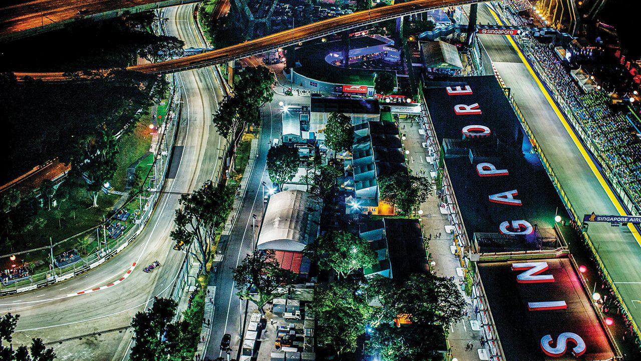 Formula 1 Singapore GP Circuit Aerial View