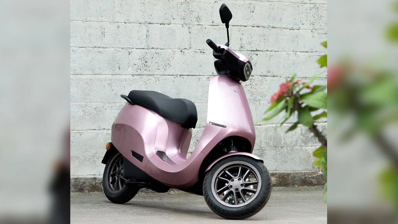 Ola Electric Scooter In Pink