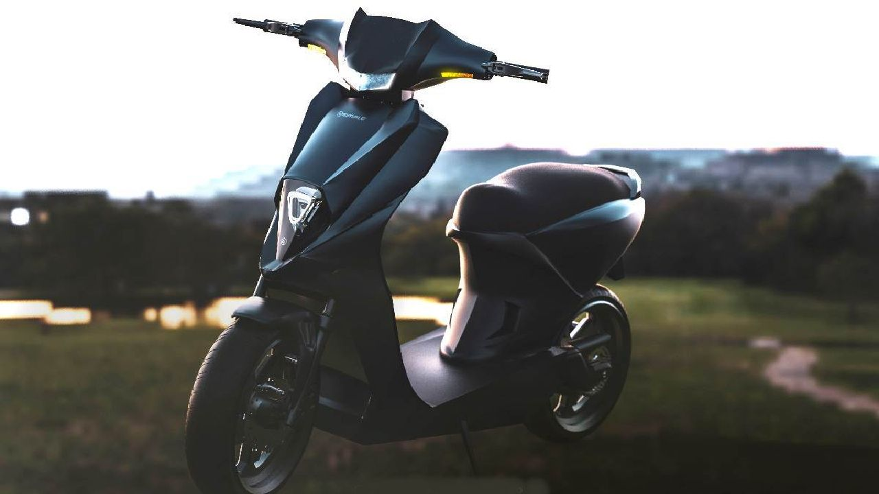 Simple One Electric Scooter Front Left Three Quarter Static