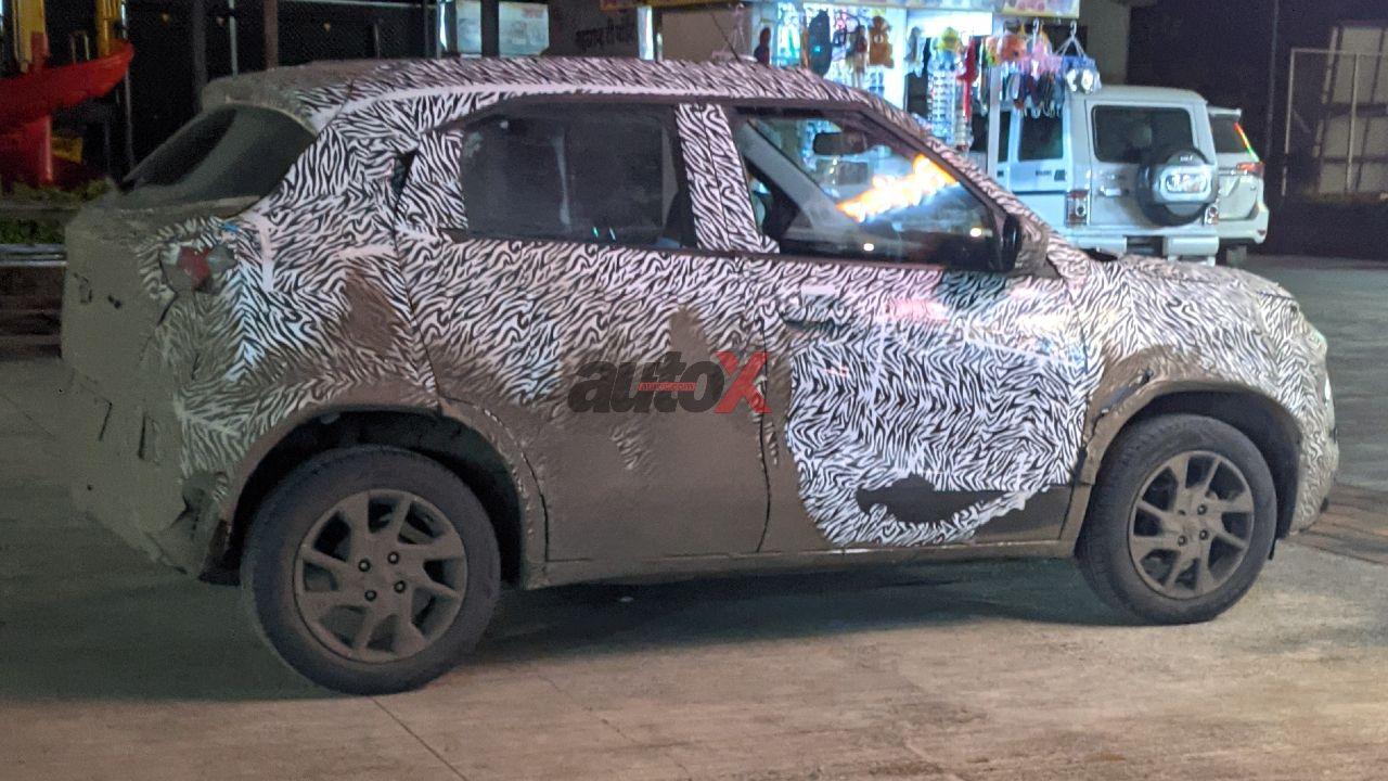 Tata HBX Hornbill Spy Shot Rear Three Quarter Static