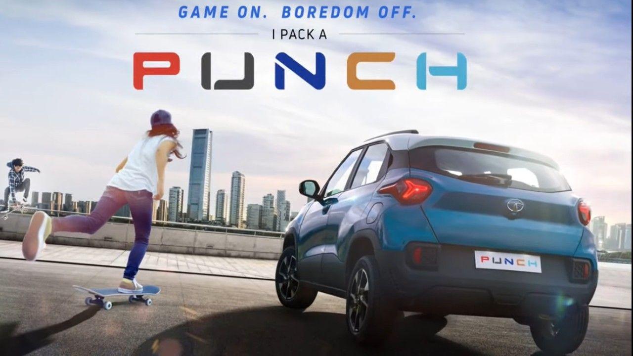 Tata Punch Rear Production Spec Hbx Concept Showcased