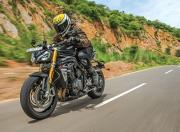 2021 Triumph Speed Triple RS Front Quarter Motion2