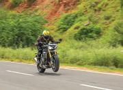 2021 Triumph Speed Triple RS Wheelie Shot1