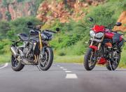 2021 Triumph Speed Triple RS with older generation Speed Triple1