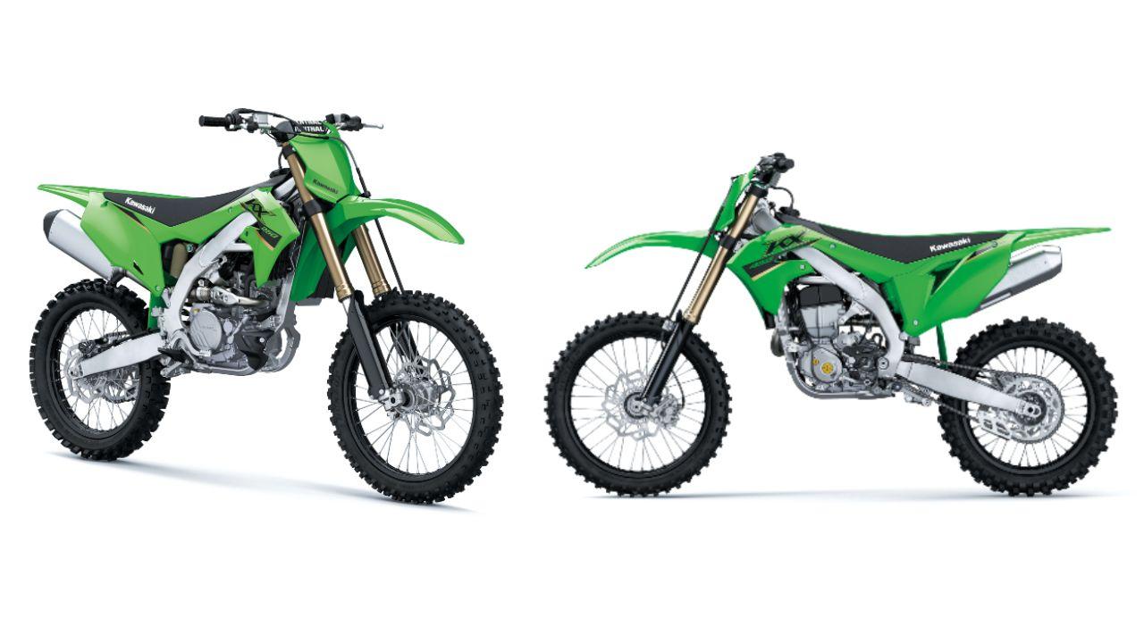 2022 Kawasaki KX250 Left 2022 Kawasaki KX450 Right