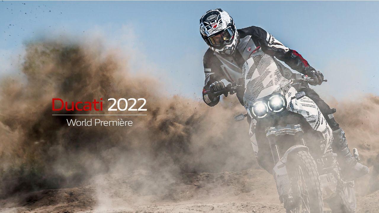 Ducati Desert X Sliding In Dirt Teaser