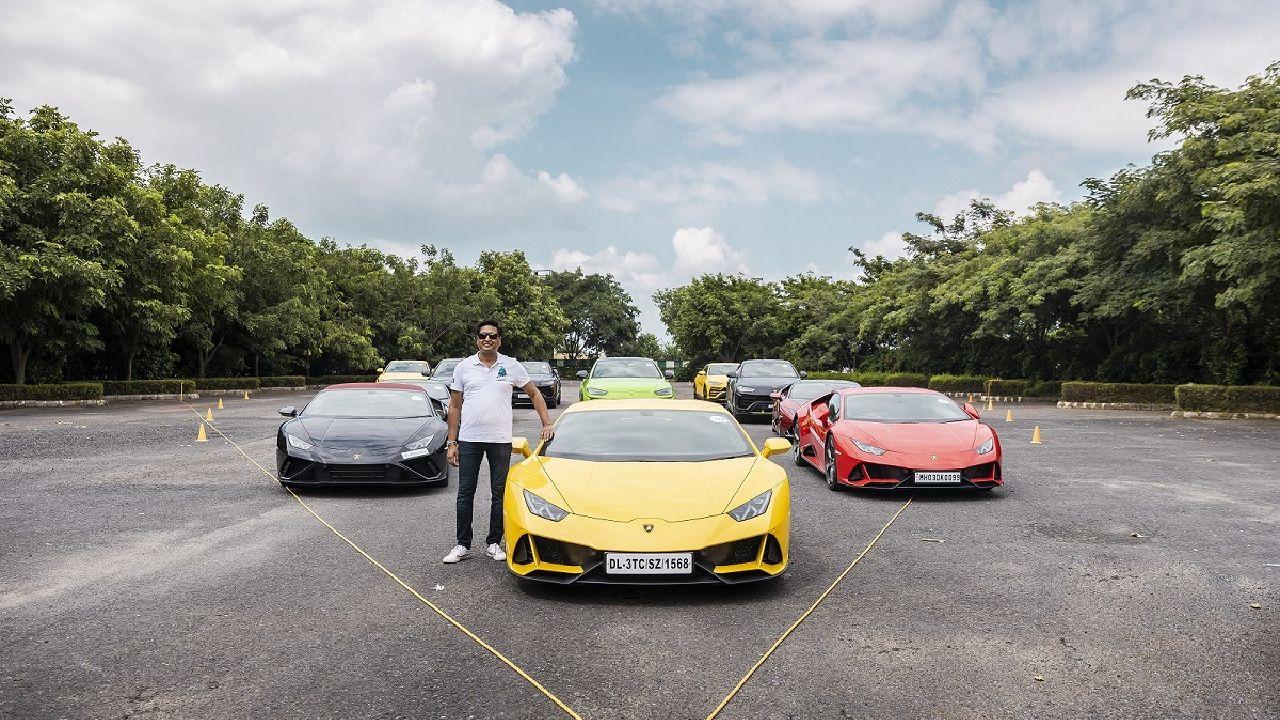 Lamborghini Huracan Yellow Full Front Shot Static