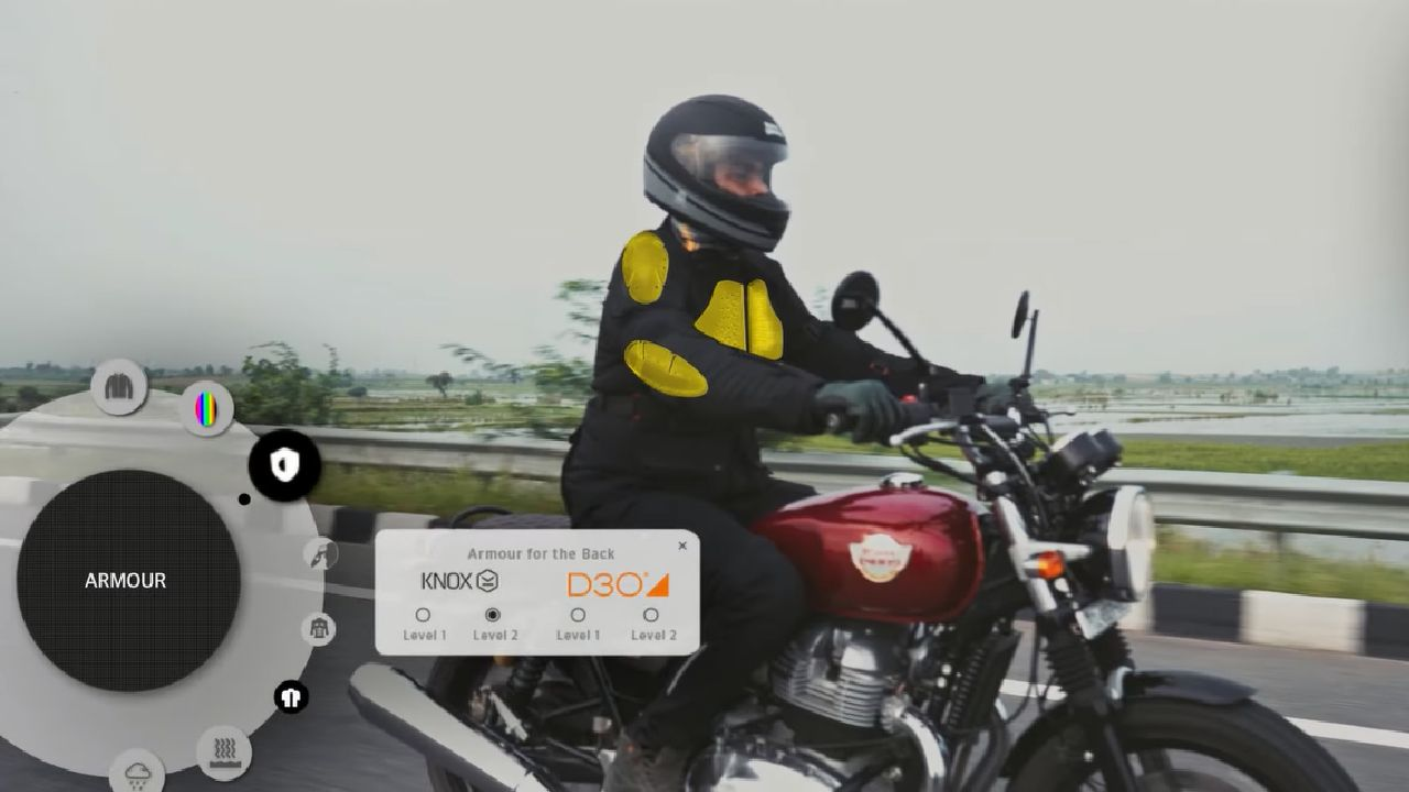Royal Enfield Make It Your Jacket Armour Diagram