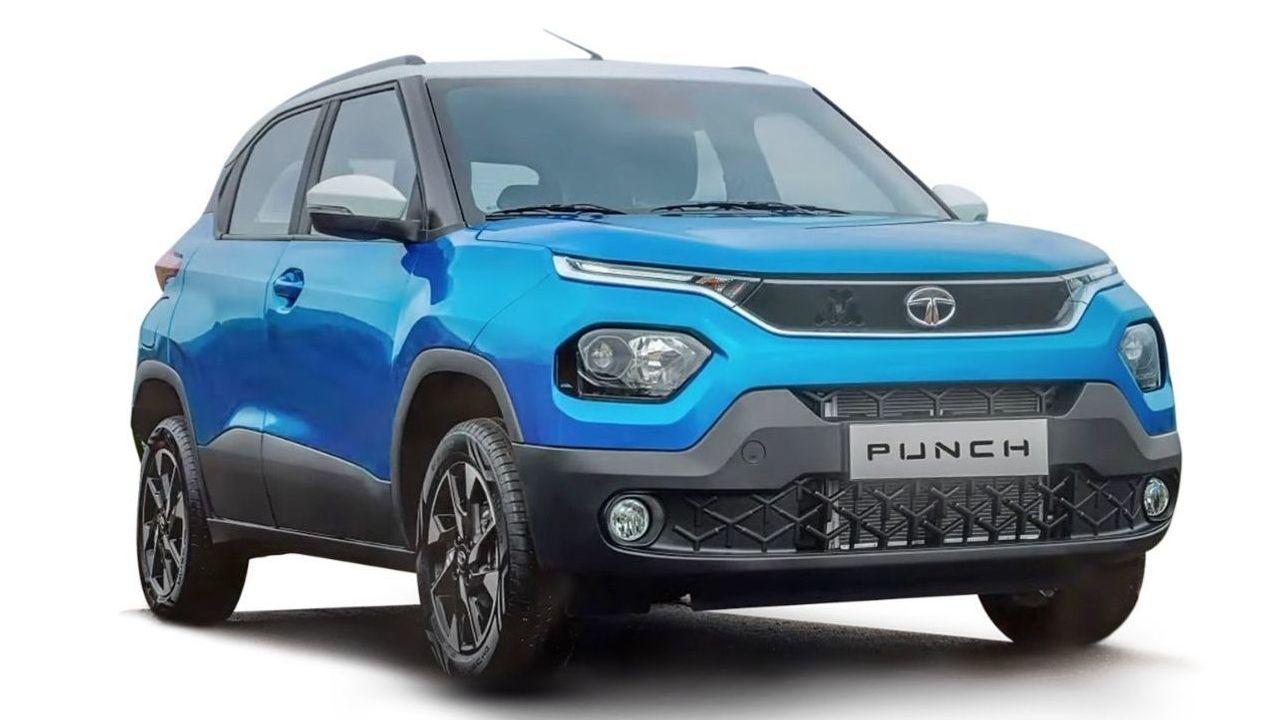 Tata Punch Micro SUV Front Three Quarter Static