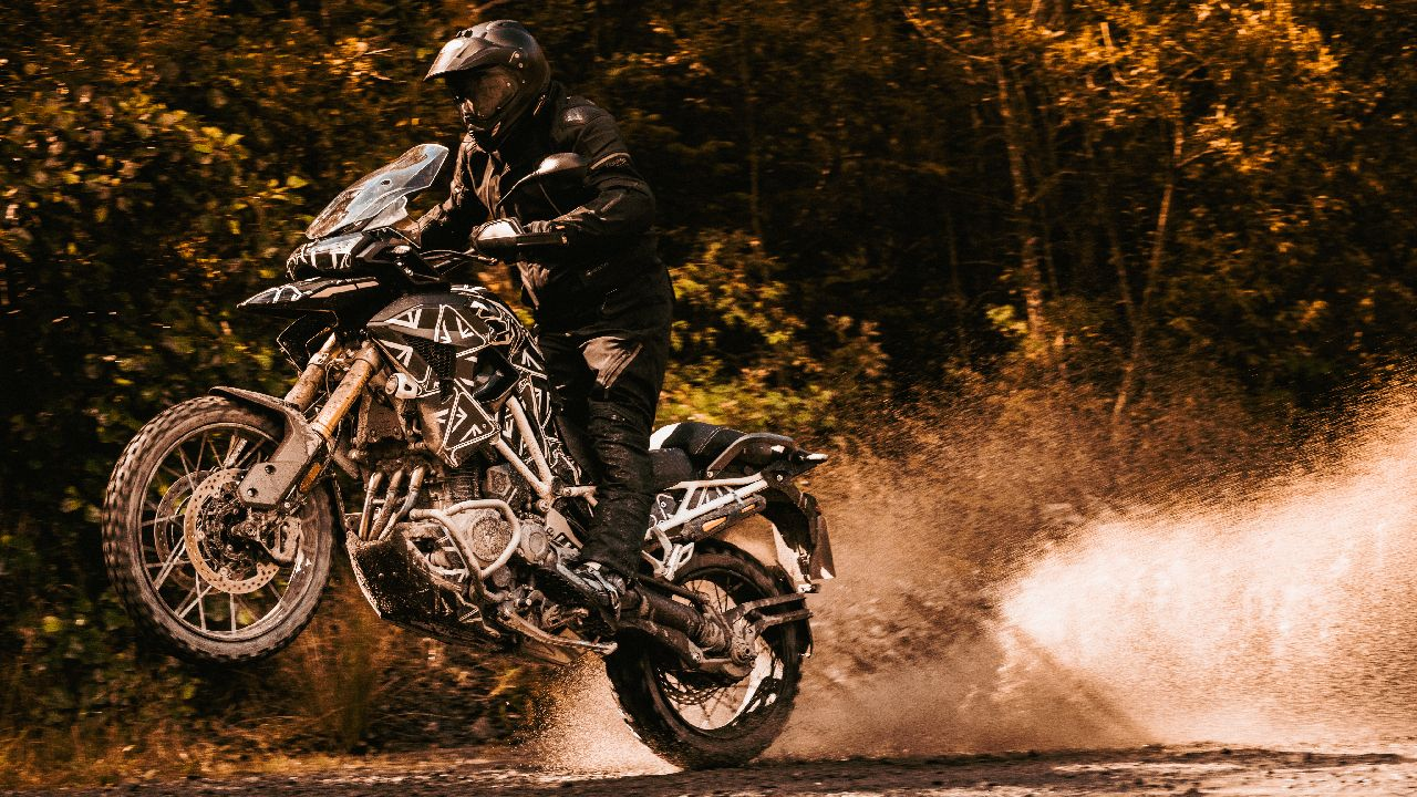 Triumph Tiger 1200 Prototype Jumping Shot Action