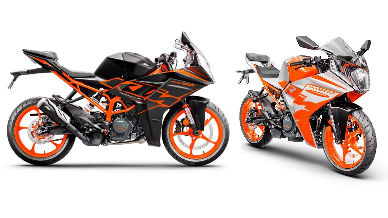 2022 KTM RC125 And RC200 Static Shot