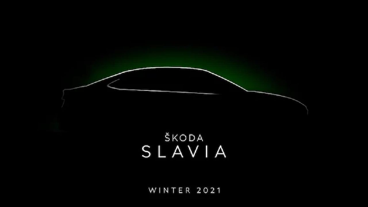 Skoda Slavia Side Silhoutte Teaser