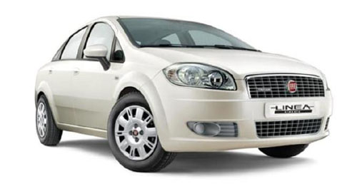 Compare Fiat Linea Classic Kerb Weight with similar cars